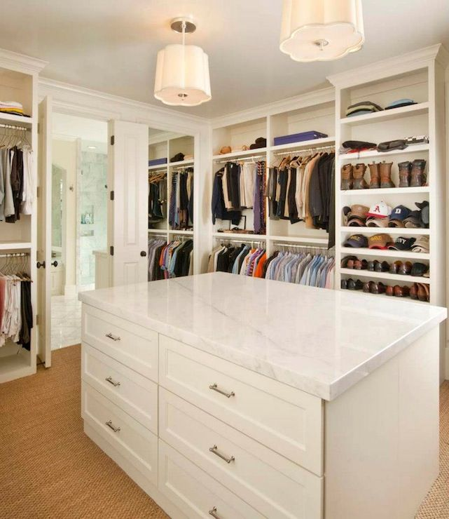 Stunning Walk-in Closet With Floor To Ceiling Shelving And
