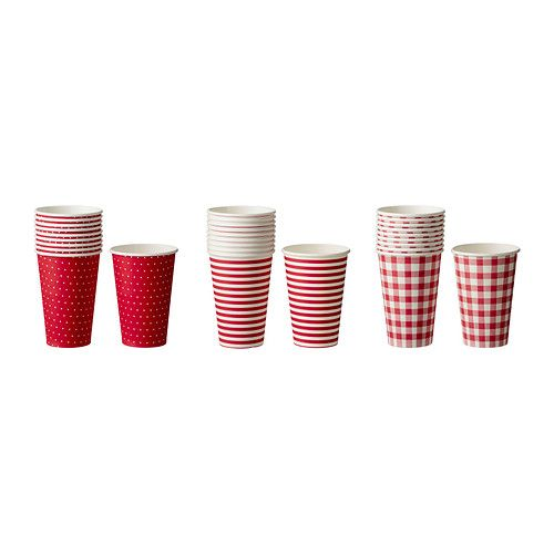 ikea snfint paper cups 10 for 99 cents - Ikea Vaisselle Jetable