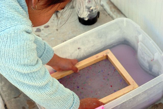 slowly lift framed sieve out of water by sew liberated, via Flickr
