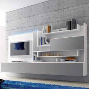 Meuble Tv Blanc Mural Achatvente Meubles Tv Blancs Muraux