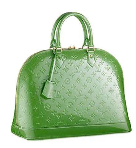 883ce6737c50 Louis Vuitton Monogram Vernis Alma PM M93625 Green