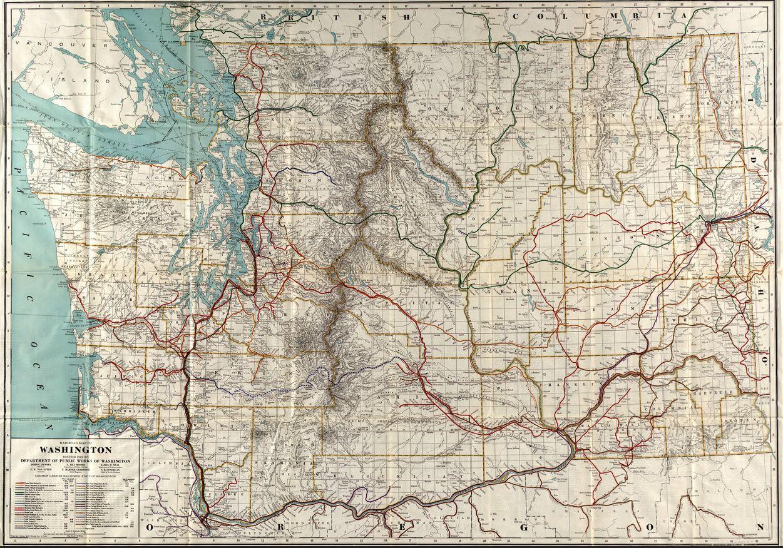 Railroad Map Of Washington Issued
