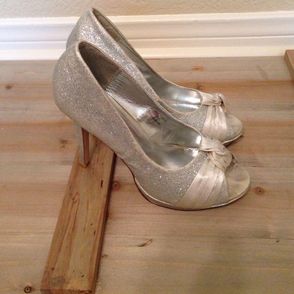 Silver Shimmery Heels