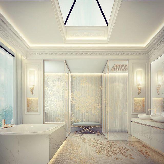 Superbe Master Bathroom Design   Doha Private Palace   Qatar