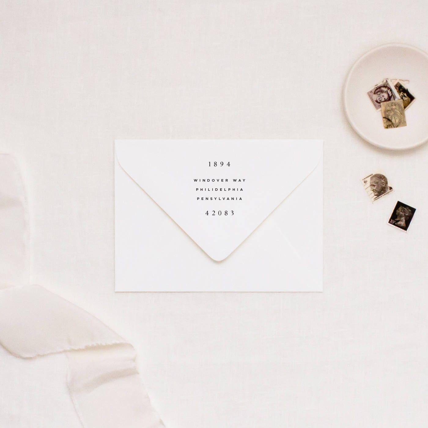 Personalized Modern Return Address Stamp, Custom Rubber Stamp ...