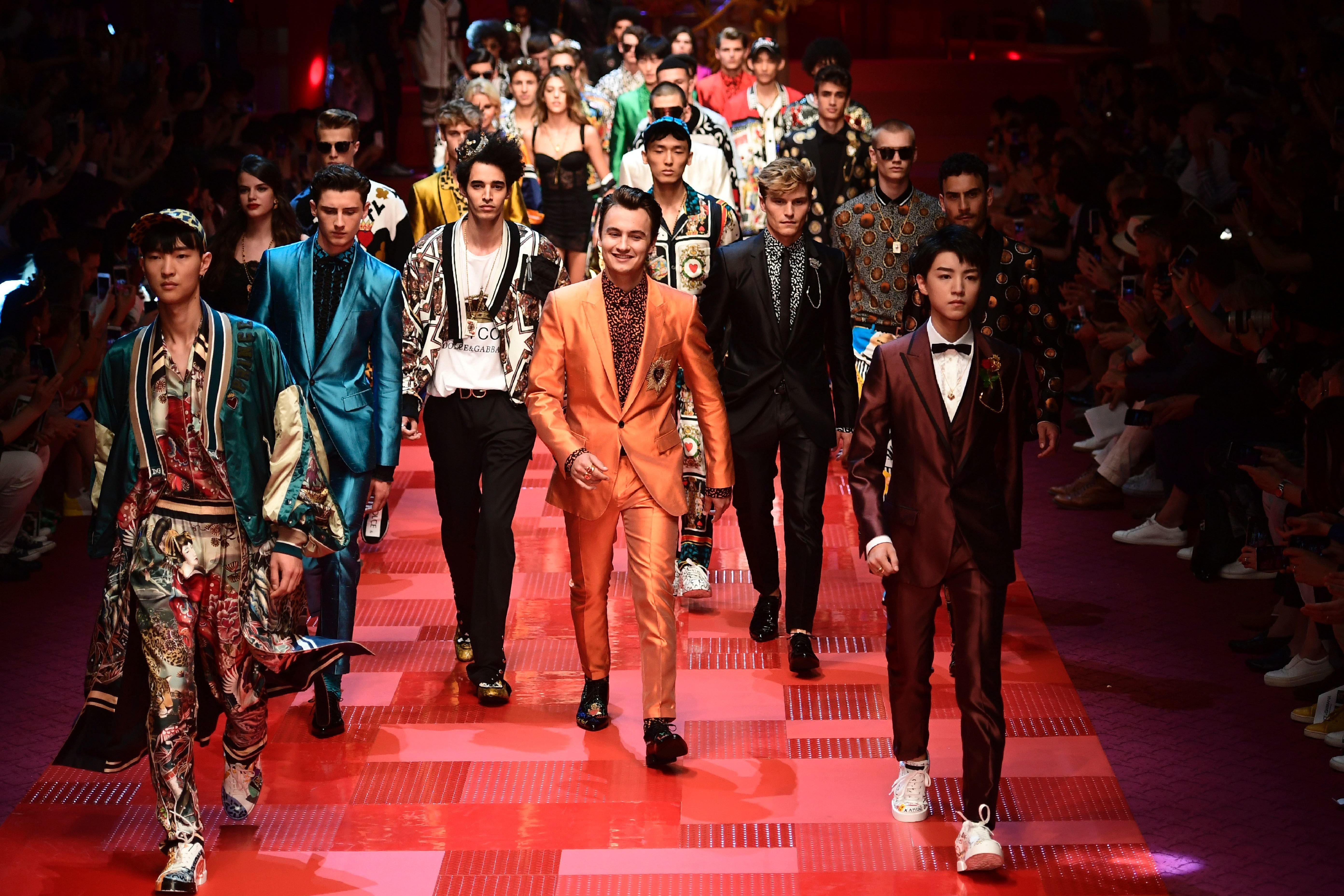 All The Scions At Dolce Gabbana S Spring 2018 Men S Show Dolce And Gabbana Dolce Gabbana