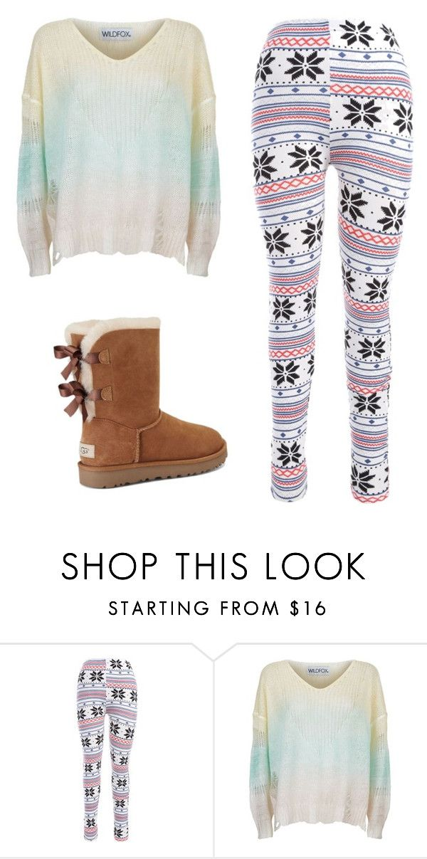 """Untitled #579"" by tumblr-outfits12 ❤ liked on Polyvore featuring Wildfox and UGG"