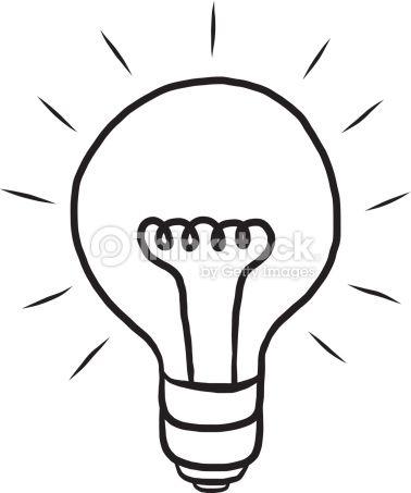 Light Bulb Ideas Cartoon Vector And Illustration Black And White Light Bulb Vector Free Vector Art Bulb
