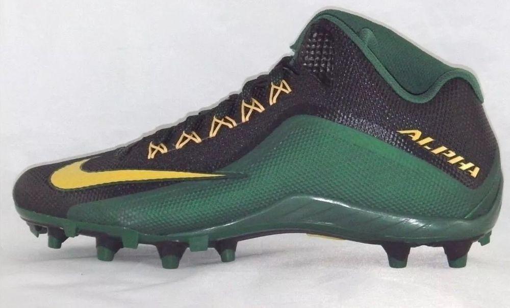 buy popular eefc0 399c4 Nike Alpha Pro 2 TD 3 4 Mid Football Cleats Men s Size 13.5 Green  Nike