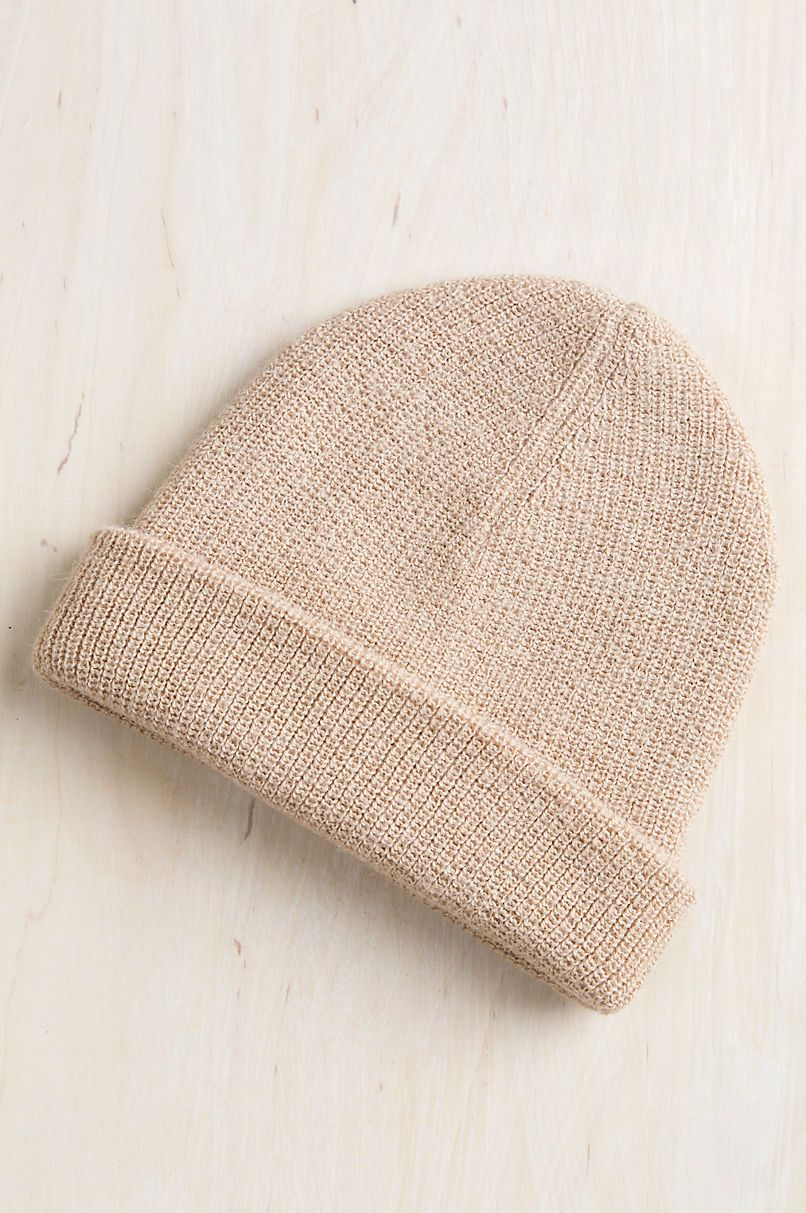 ae3111b7a04 Double Knit Alpaca Wool Beanie Hat in 2019