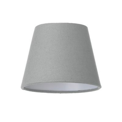 Litecraft soft cotton candle lamp shade grey debenhams