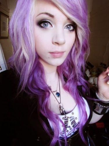 Emo Scene Gothic Punk Fashion Meme Piercing Tattoo Scene Hair Purple Hair Hair Styles