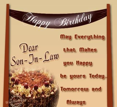 HAPPY BIRTHDAY to my sweet soninlaw CLINT CONNER Hope you – Happy Birthday Son in Law Cards