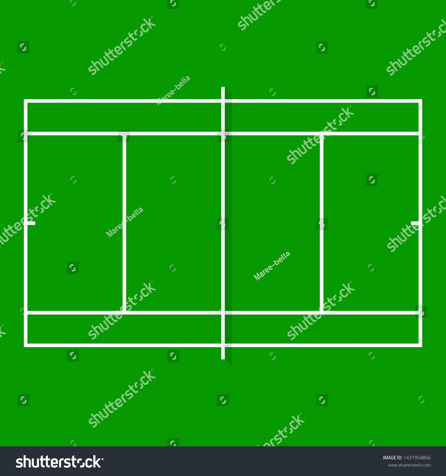 Tennis Court Icon Flat Style Tennis Field With Exact Proportions Sport Vector Illustration Ad Sponsored Flat Style Icon Tennis