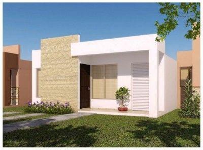 Fachadas de casas modernas de un piso peque as cabra for Viviendas minimalistas pequenas