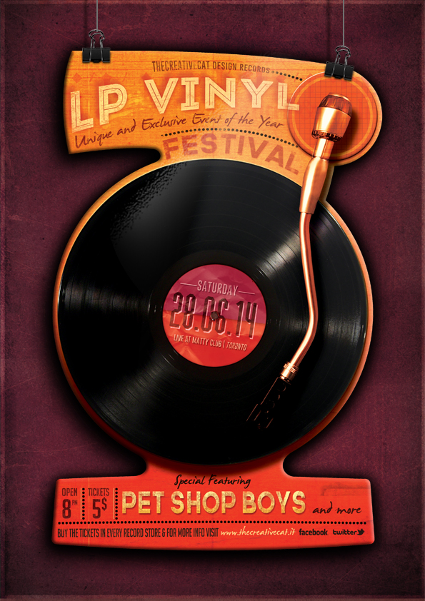 """The Flyer Poster Templates """"Vintage Vol. 10"""" You'll find it on my website www.thecreativecat.it"""
