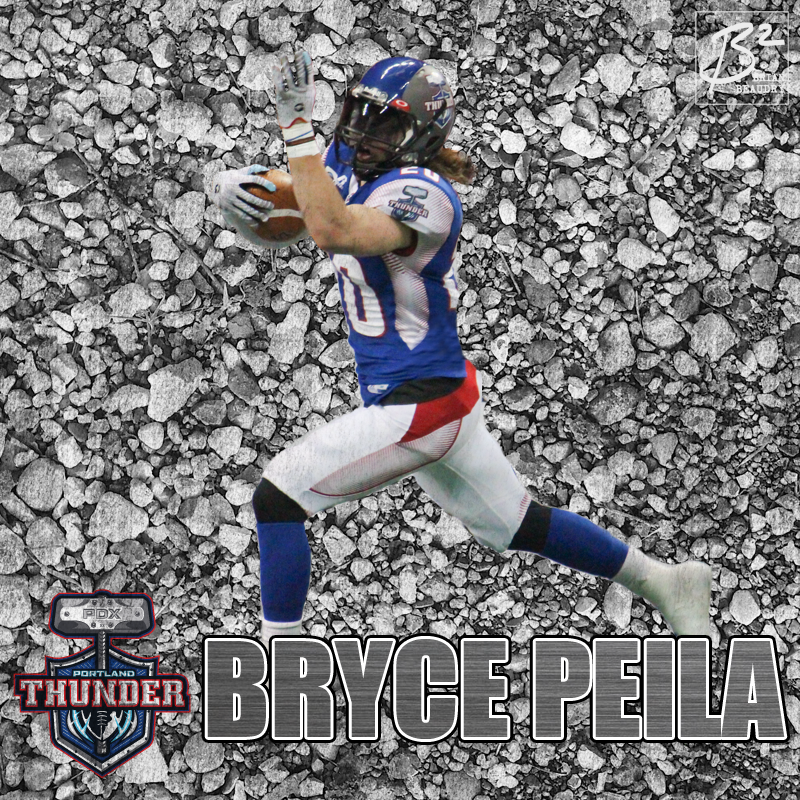Bryce Peila's Portland Thunder player card