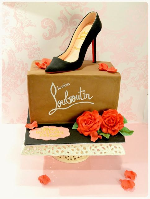 gateau boite a chaussure louboutin