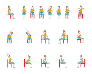 Yoga Sequence For Seniors With Chair And Restorative Poses Chair Yoga Yoga For Seniors Chair Yoga Sequence