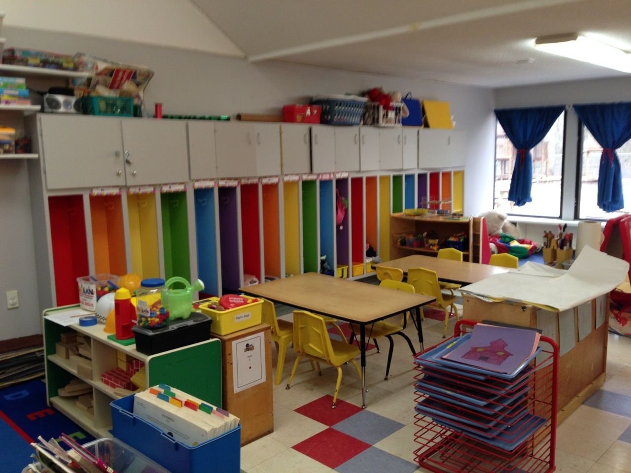 These are the new rainbow cubbies at Method Child ...