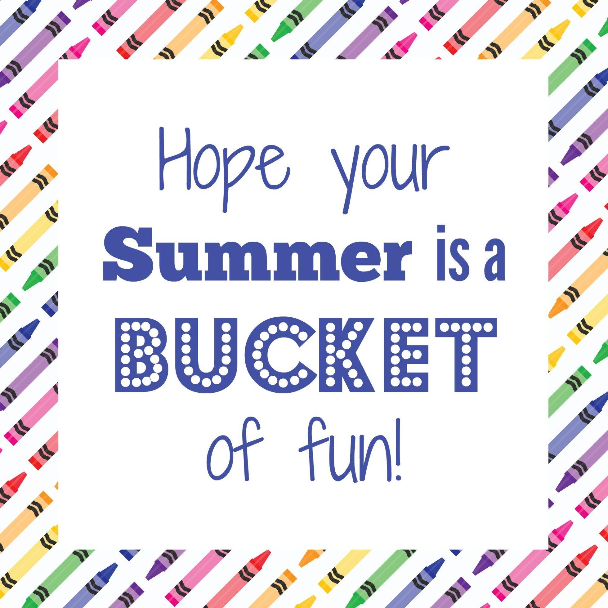 Beach Bucket Teacher T Idea Free Printable Tags