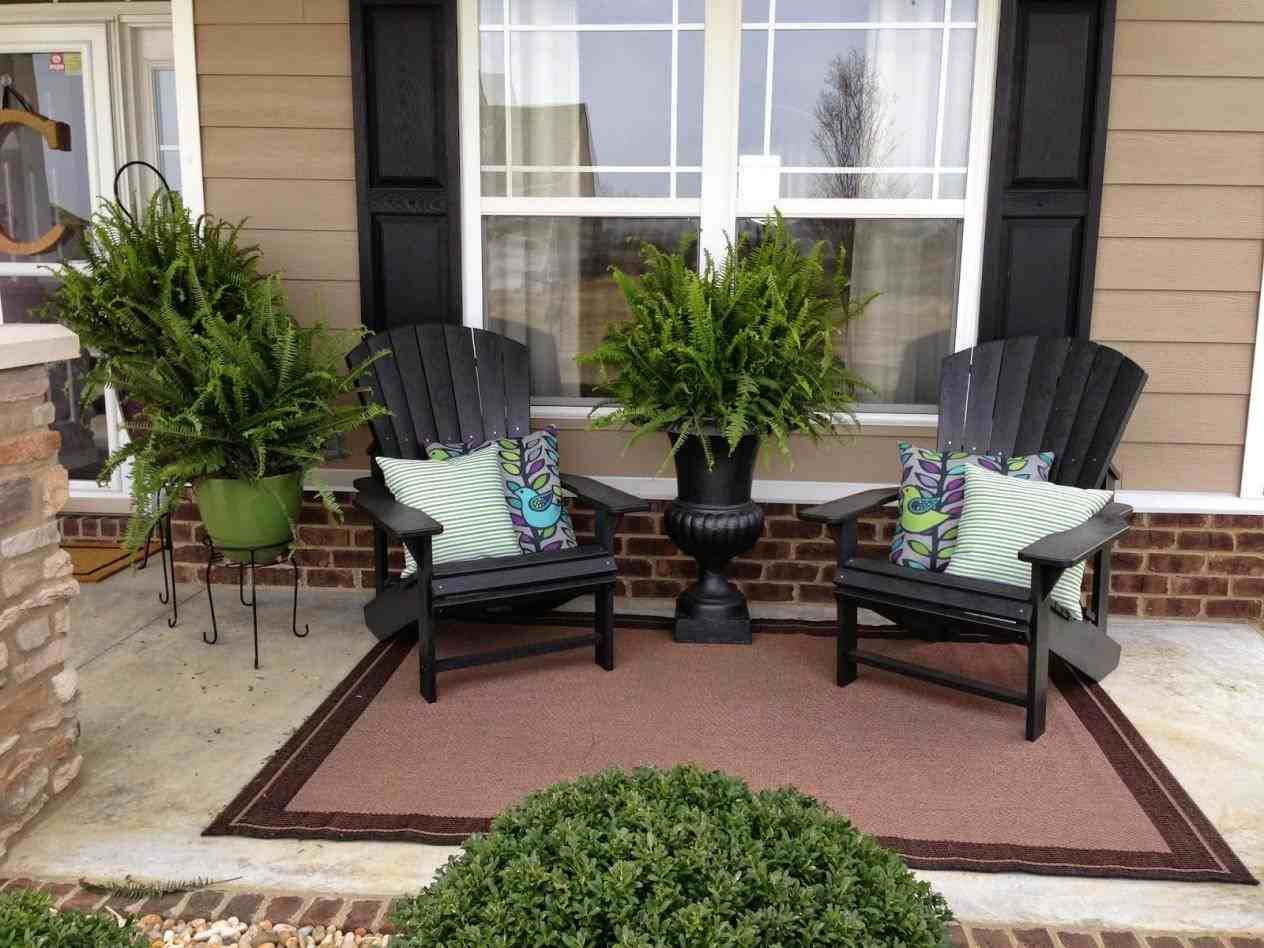 Uncovered Front Porch Furniture Ideas With Images