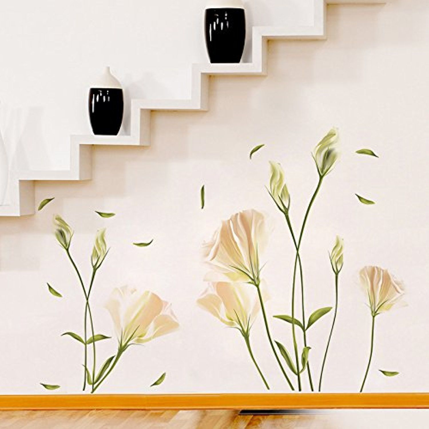 Flower Wall Stickers Lilly Wall Decal Flower Vinyl Wall D