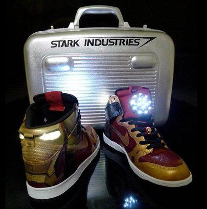 best website c62ab ff503 Custom-made Nike Iron Man high tops that light up. DO WANT.