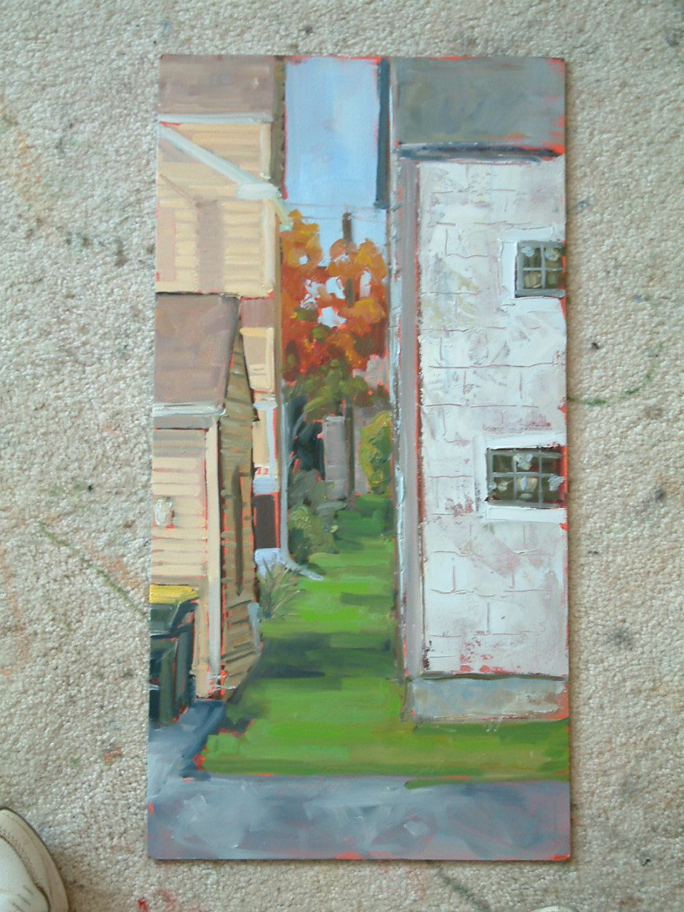 ORIGINAL Oil Painting Landscape Art Plein  Air Impressionist Buildings Original Art