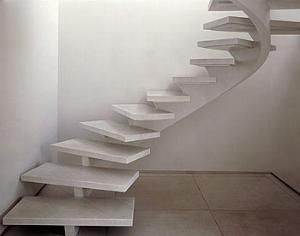 Look!: Curvy Modern Marble Stairs   Apartment Therapy New York