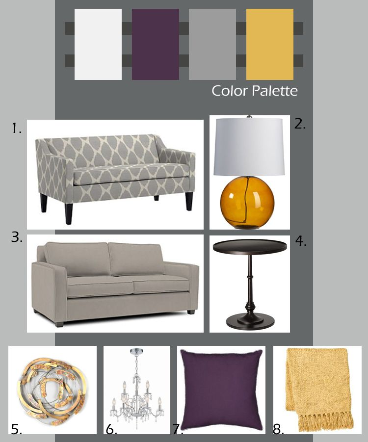 The Happy Married Couple November 2010 Purple Living Room Bedroom Color Schemes Living Room Grey #navy #grey #and #mustard #living #room