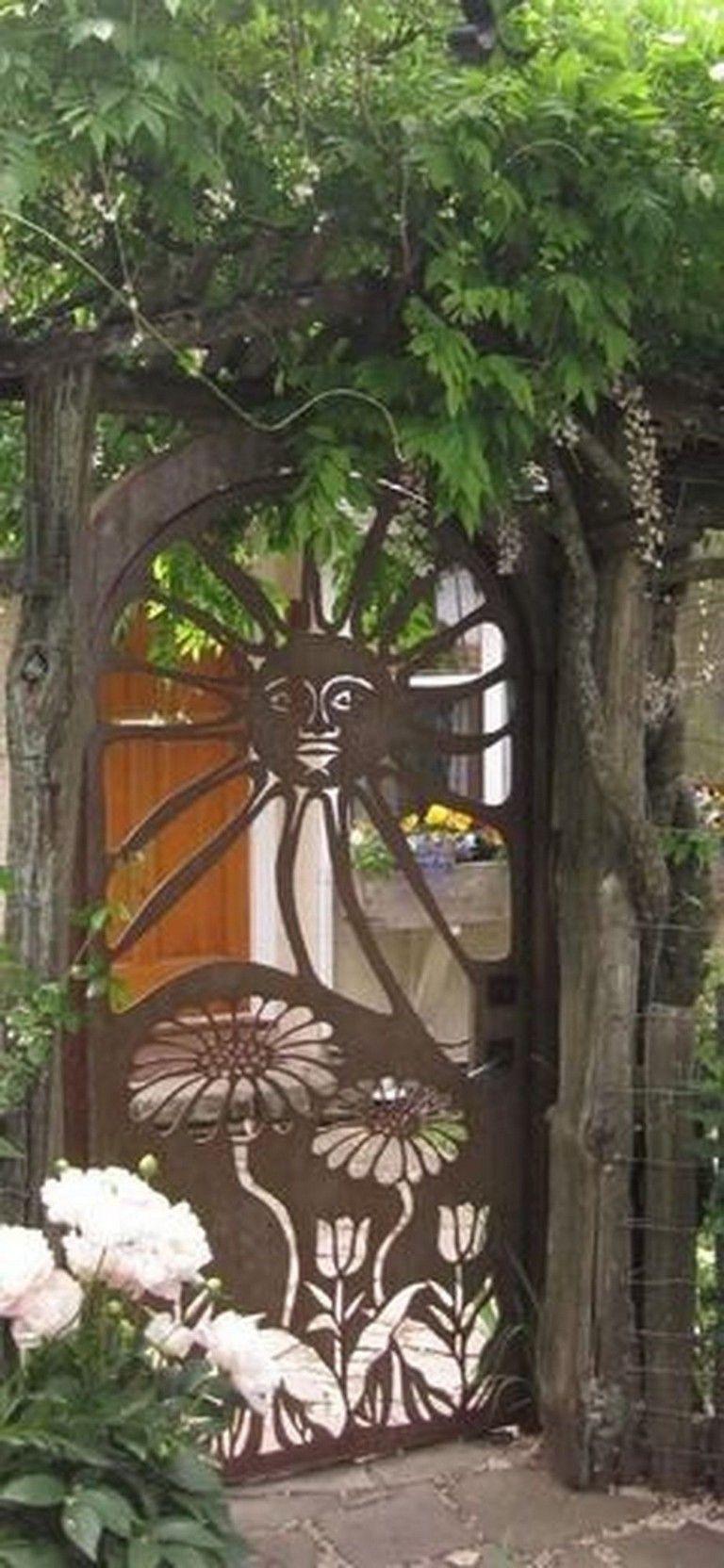 70 Fantastic Rustic Garden Gates Decor Ideas