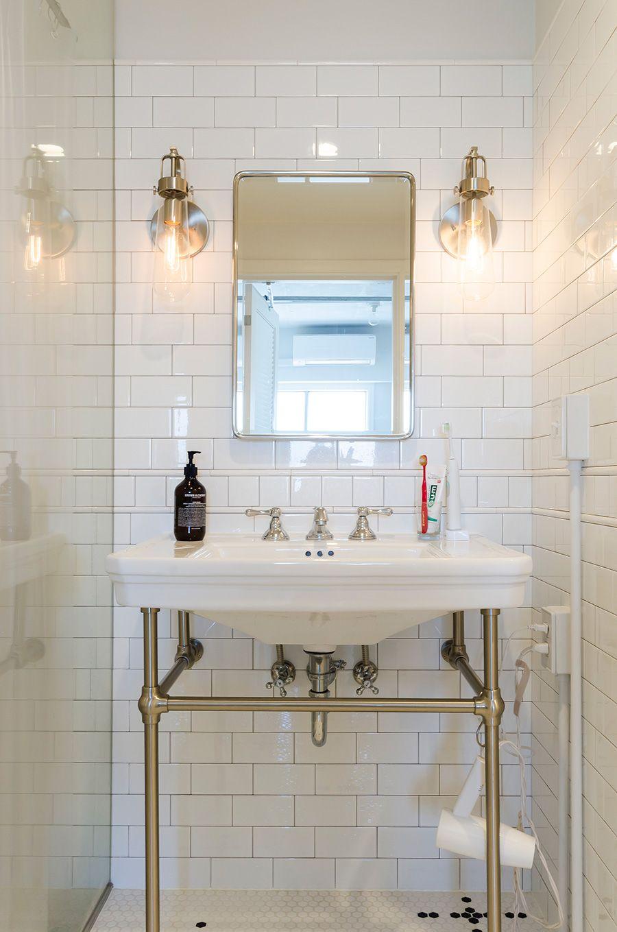 壁のないファミリー物件ゆるやかに仕切られた Nyスタイルの1ldk 洗面