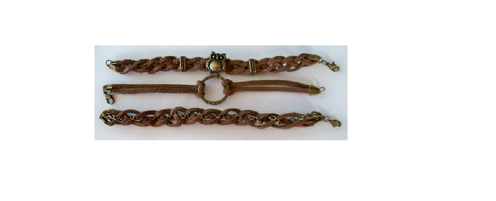 Adorned Stacked Braided Leather Bracelets | AllFreeJewelryMaking.com