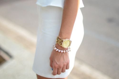 love a little peplum action and all white