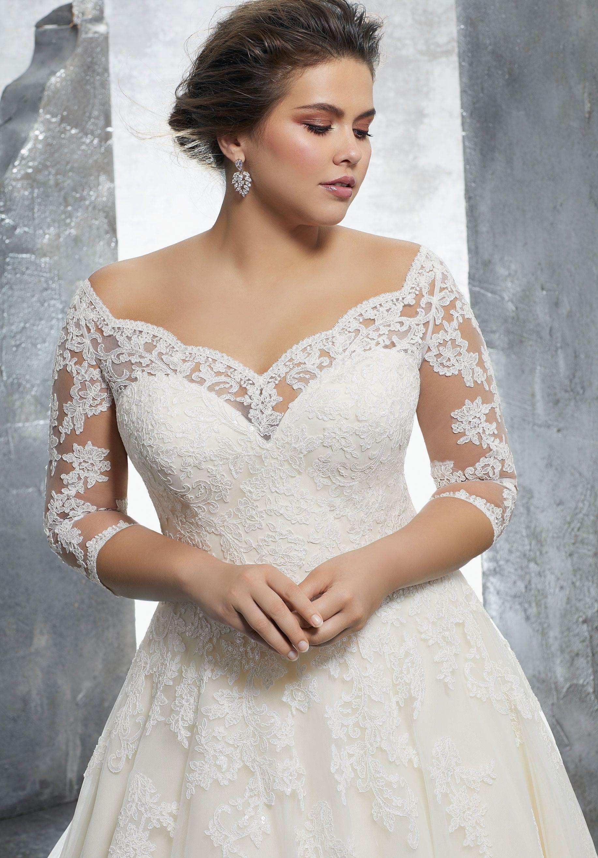 Kosette Plus Size Wedding Dress Morilee Vestidos De Novia Gorditas Vestidos De Novia Vestidos De Novia Con Mangas [ 2630 x 1834 Pixel ]
