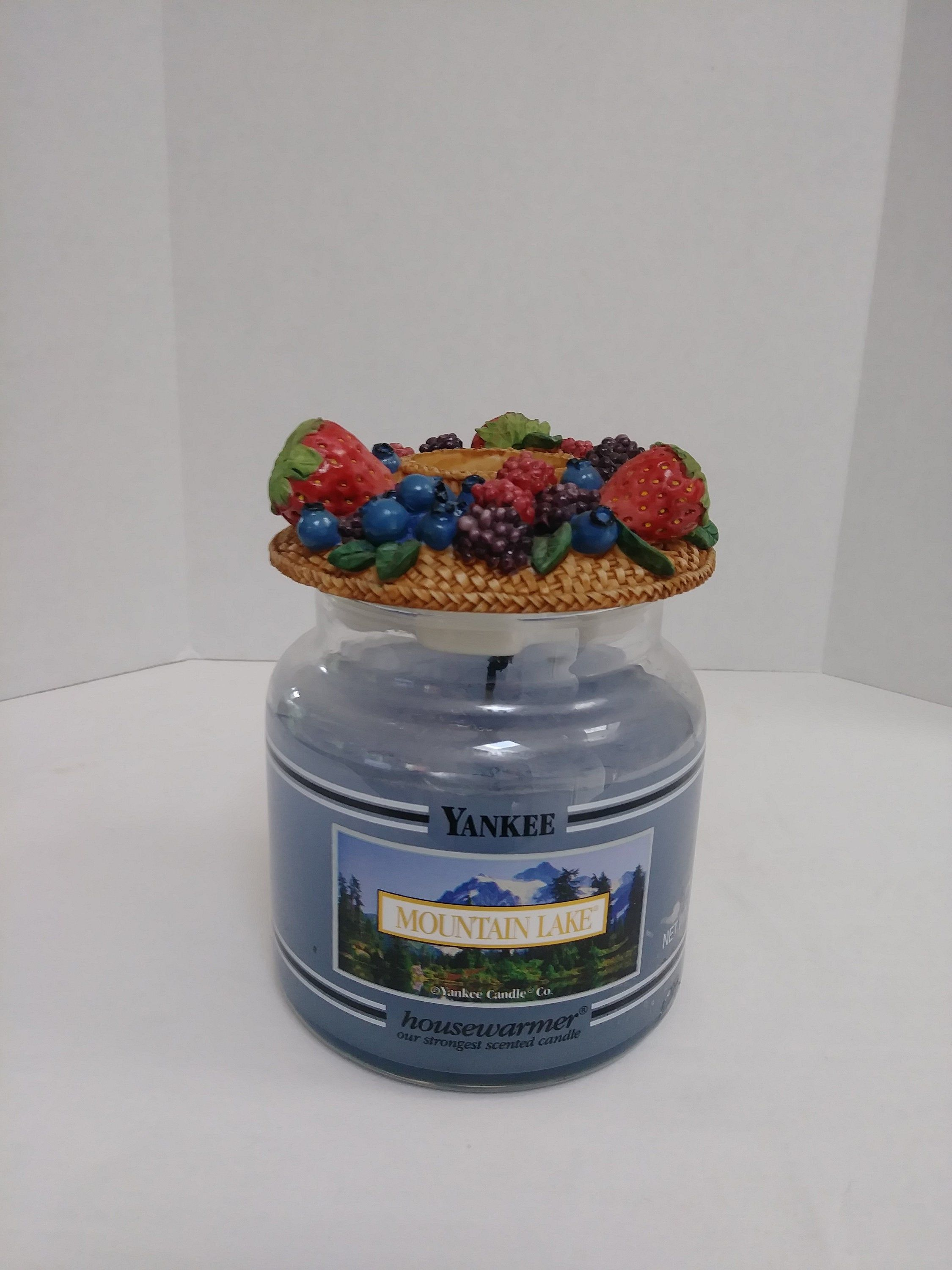Vintage Candle Capper Berries ~ Fits Yankee Candle Jar