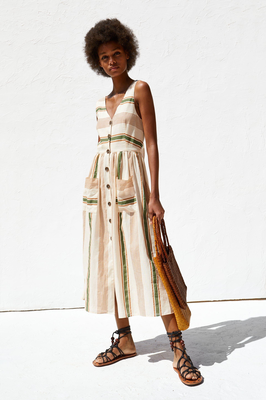 acc38ff2e3f STRIPED RUSTIC DRESS - View all-DRESSES-TRF
