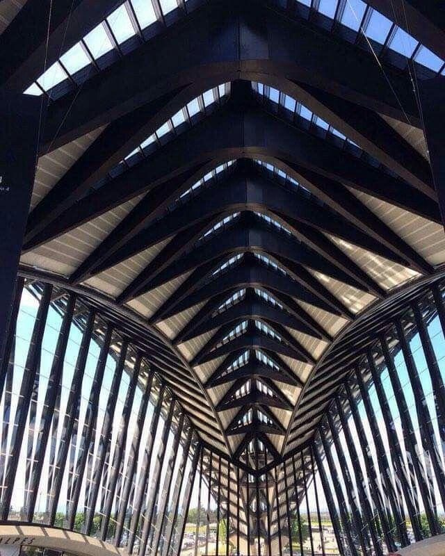 Estación de tren Lyon-Saint-Exupery, obra de Santiago Calatrava