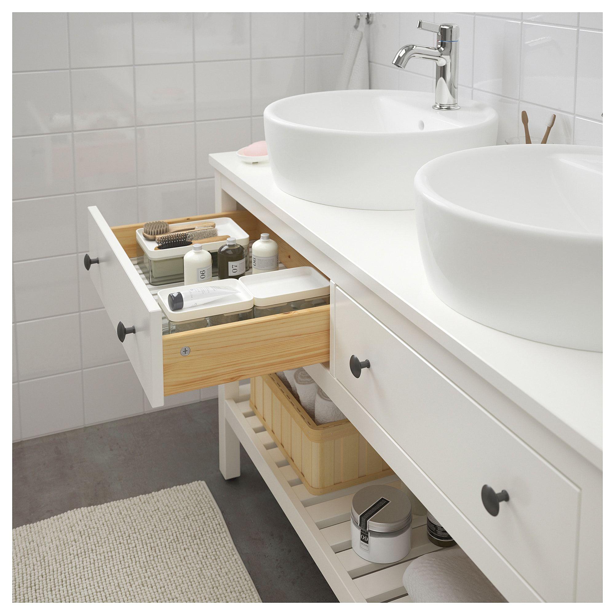 IKEA HEMNES / TORNVIKEN White, Voxnan Faucet Open sink ...