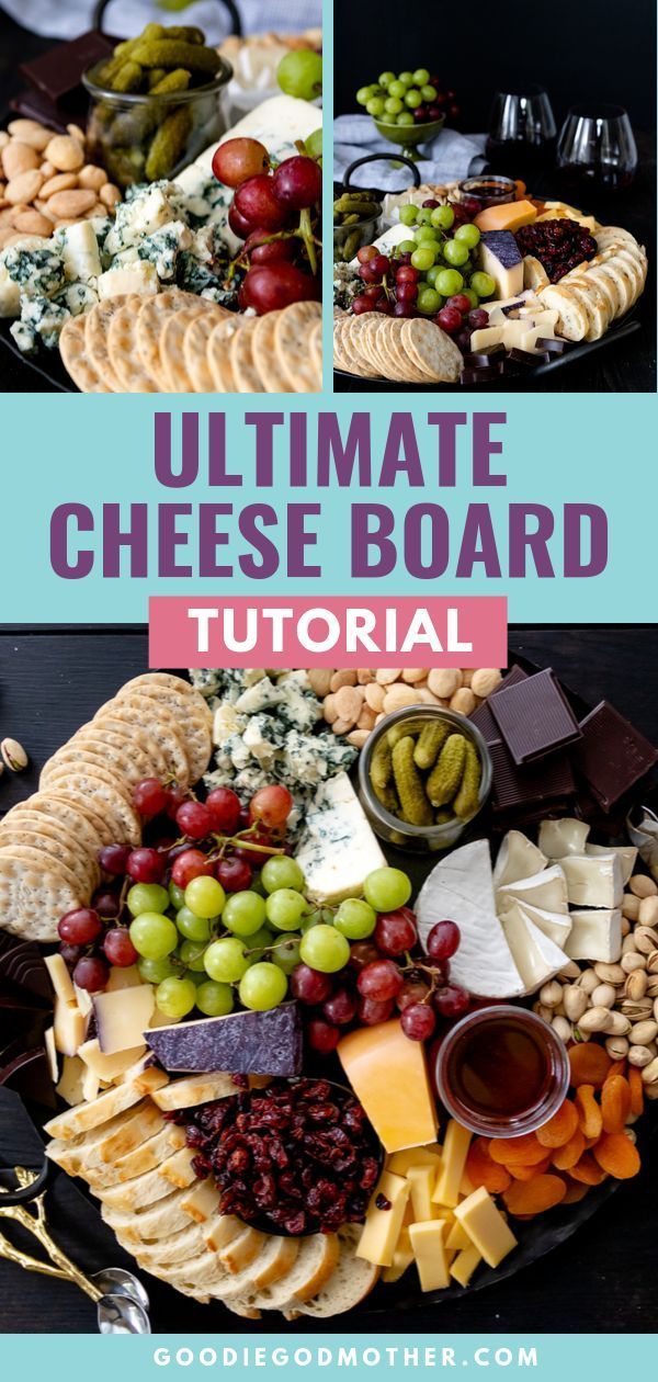 Learn how to assemble the ultimate cheese board without blowing your party budget! You'll get all the tips and tricks you need to put together the perfect cheese board for any size party. Watch the video in the post to see how easy it is to put together! #cheeseboard #partyfood #howtomake #menuideas #cheeseboardideas #cheeseboarddiy #partybudgeting