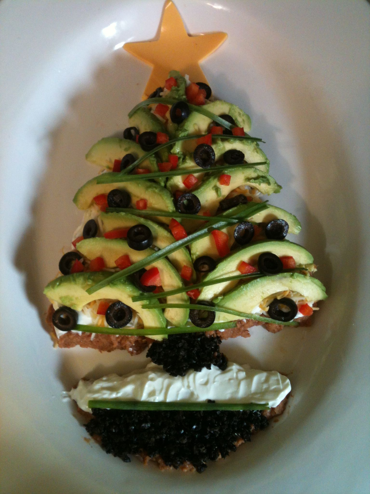 5 Layer Avocado Christmas Tree Dip Layers Are Chile Lime