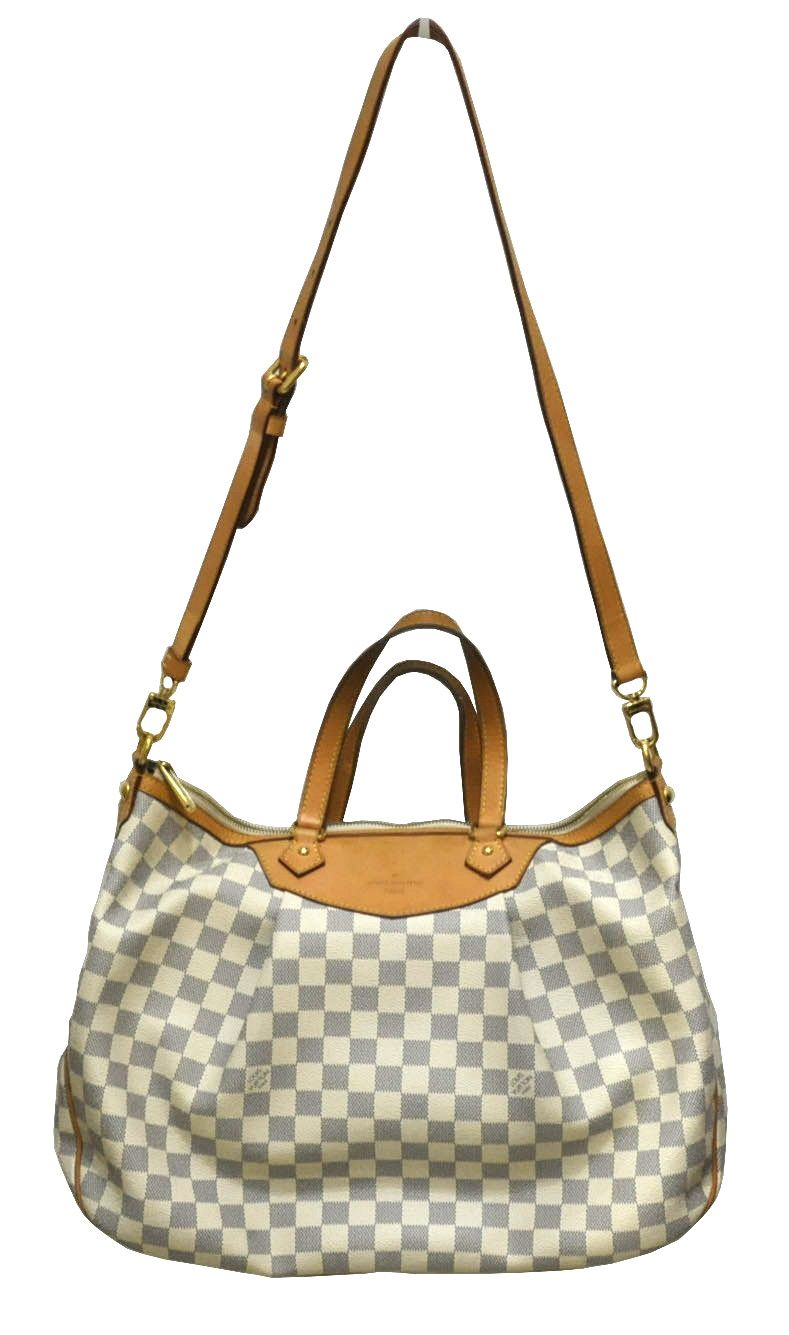 7897876aa043 Louis Vuitton Siracusa GM Damier Azur Louis Vuitton Designer