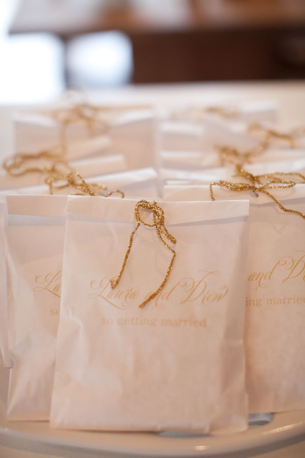Wedding Favor Bags I Can Order Via Uline And Then A Stamp With Your Names