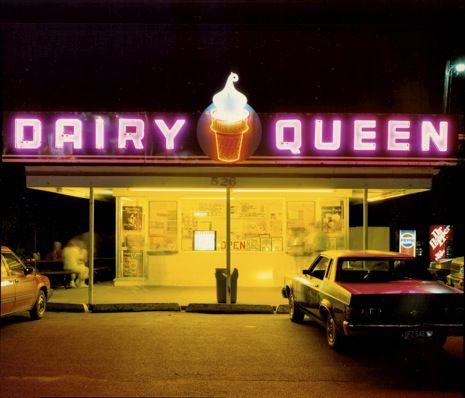 Dairy Queen at Night: US 6, Iowa City, Iowa, 1988