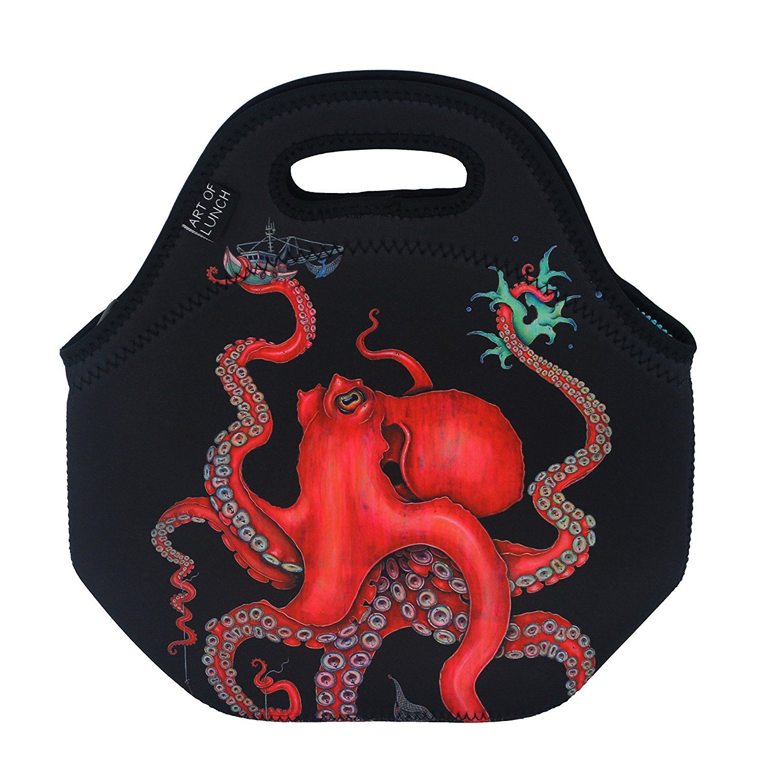 12c2adf1a101 Amazon.com: Neoprene Lunch Bag by ART OF LUNCH - Large [12