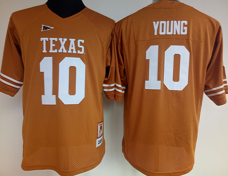 best sneakers 99b7a cd73b Womens Texas Longhorns #10 Vince Young YELLOW jersey | NCAA ...