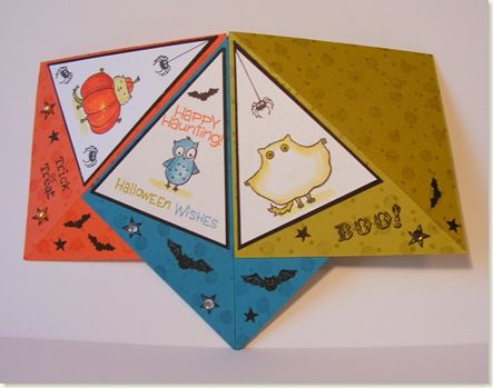 Teepee Card Open Ctd14 Fun Fold Cards Card Making Templates Card Craft