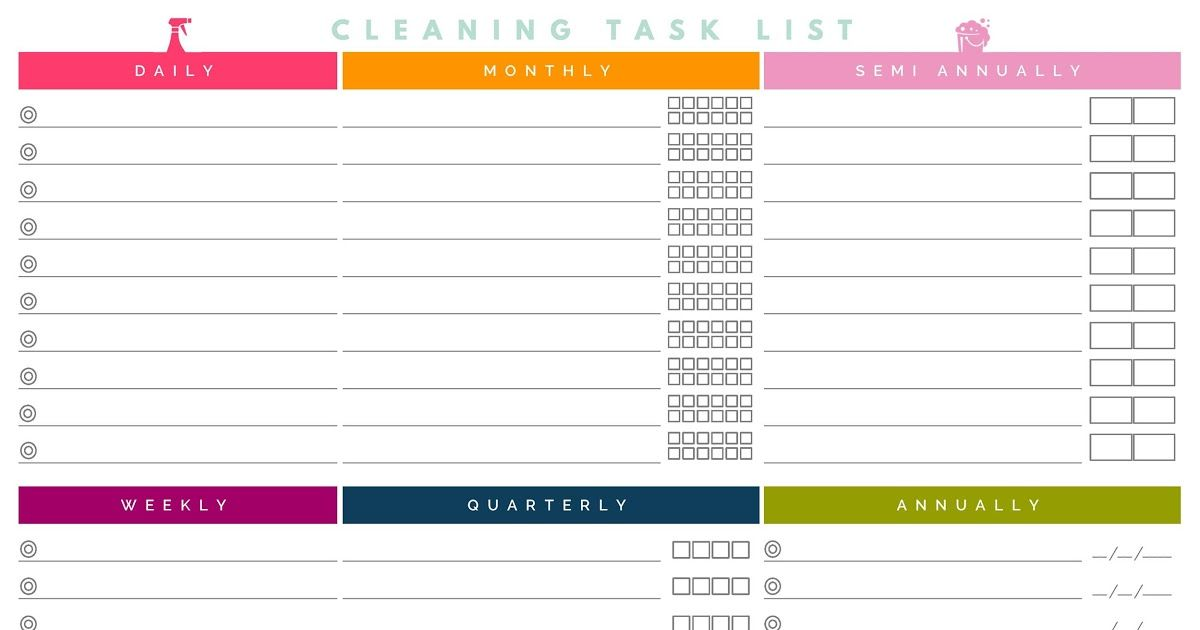 40 Printable House Cleaning Checklist Templates ᐅ Template