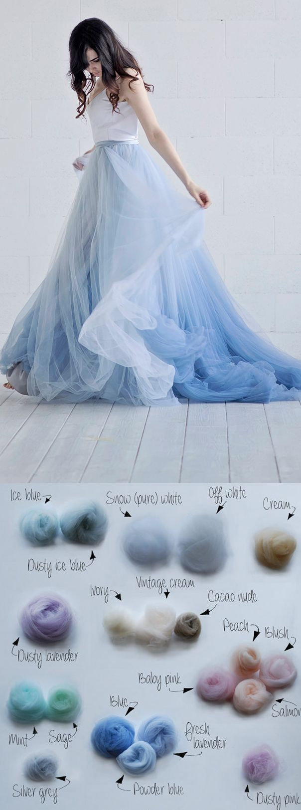 Nora u etsy ombre choose your colour wedding dress bridal gown in